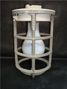 Vintage adalet industrial cage light fixture~13 availab