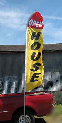 Lexus Of Milwaukee >> 15 feet tall open house feather bow swooper flag w/pole